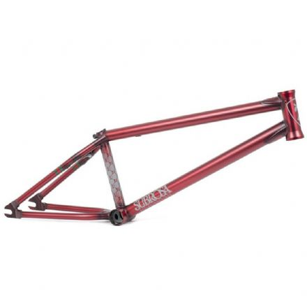 Subrosa MR1 Frame - Satin Trans Red 20.75""